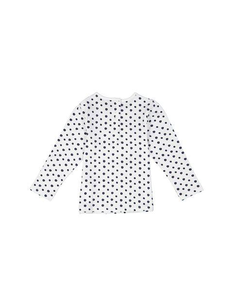 تی شرت و شلوار نخی نوزادی دخترانه - سفيد و سرمه اي - 4
