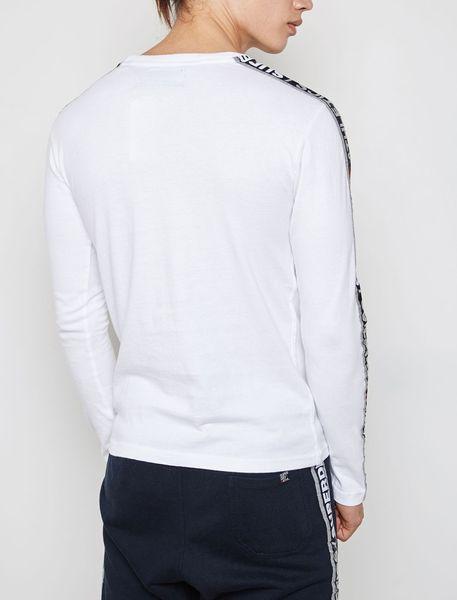 تی شرت نخی آستین بلند مردانه - سفيد - 2