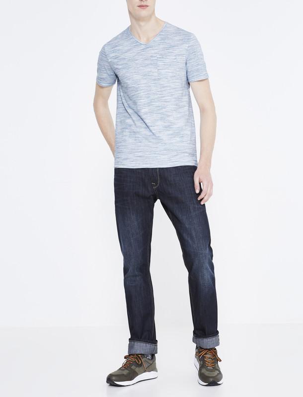 تی شرت نخی یقه هفت مردانه - سلیو