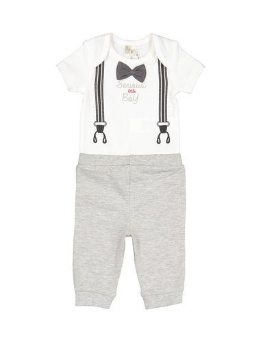 تی شرت و شلوار نخی نوزادی پسرانه - ارکسترا