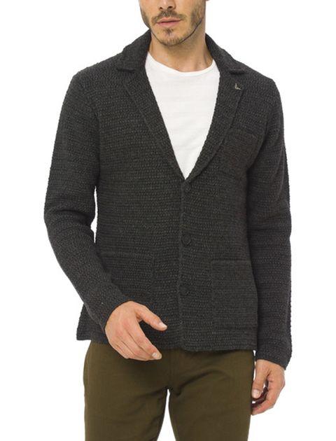 ژاکت دکمه دار مردانه - ال سی وایکیکی - زغالي - 1