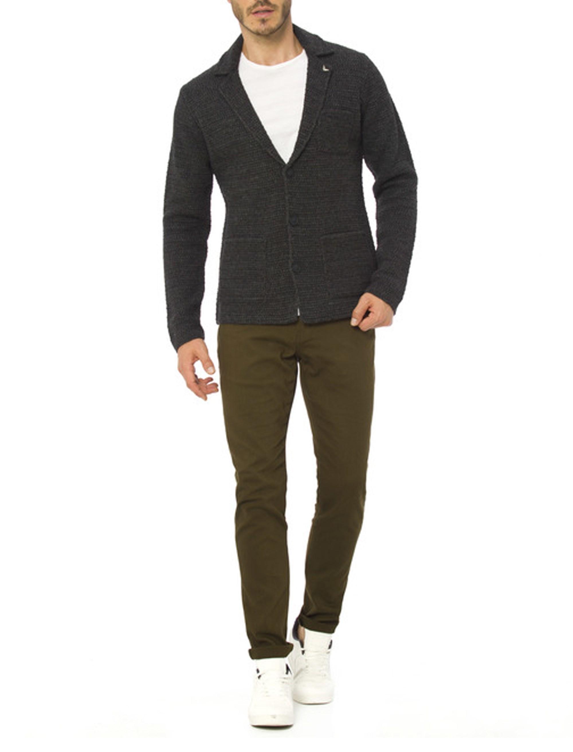ژاکت دکمه دار مردانه - ال سی وایکیکی - زغالي - 3