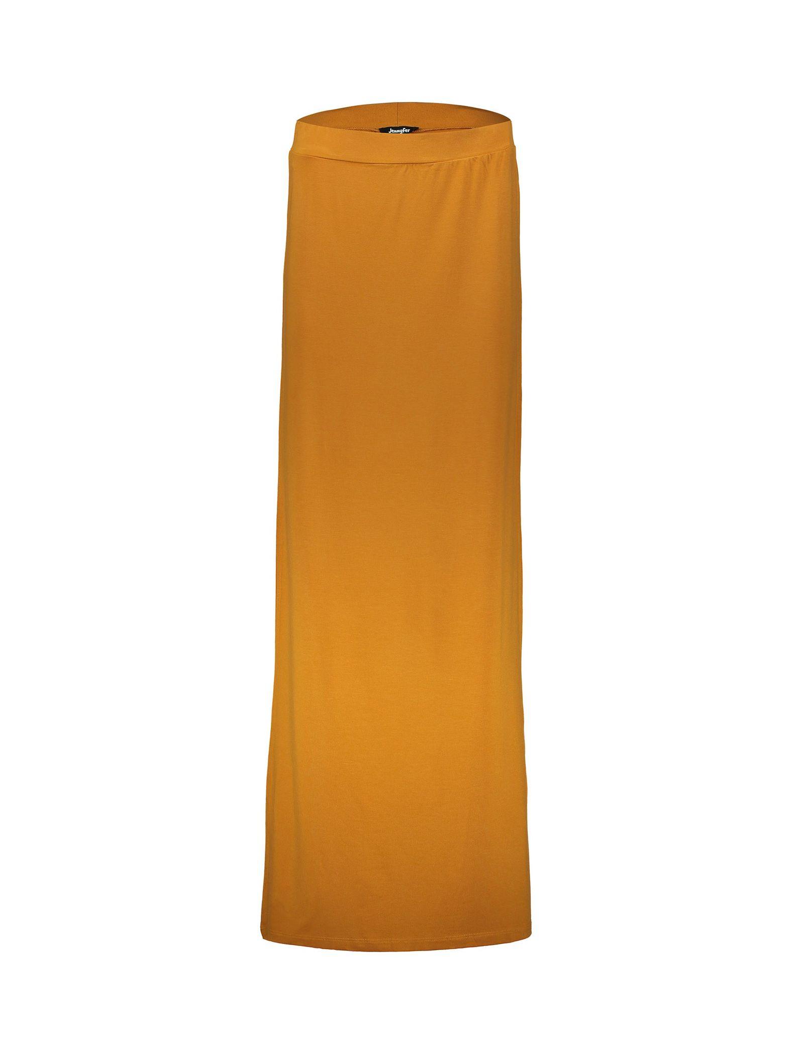 دامن ویسکوز بلند زنانه - جنیفر - خردلي - 1