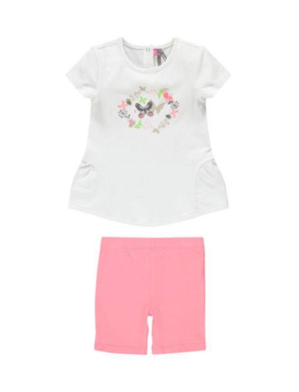 تی شرت و شلوارک نخی نوزادی دخترانه - ارکسترا