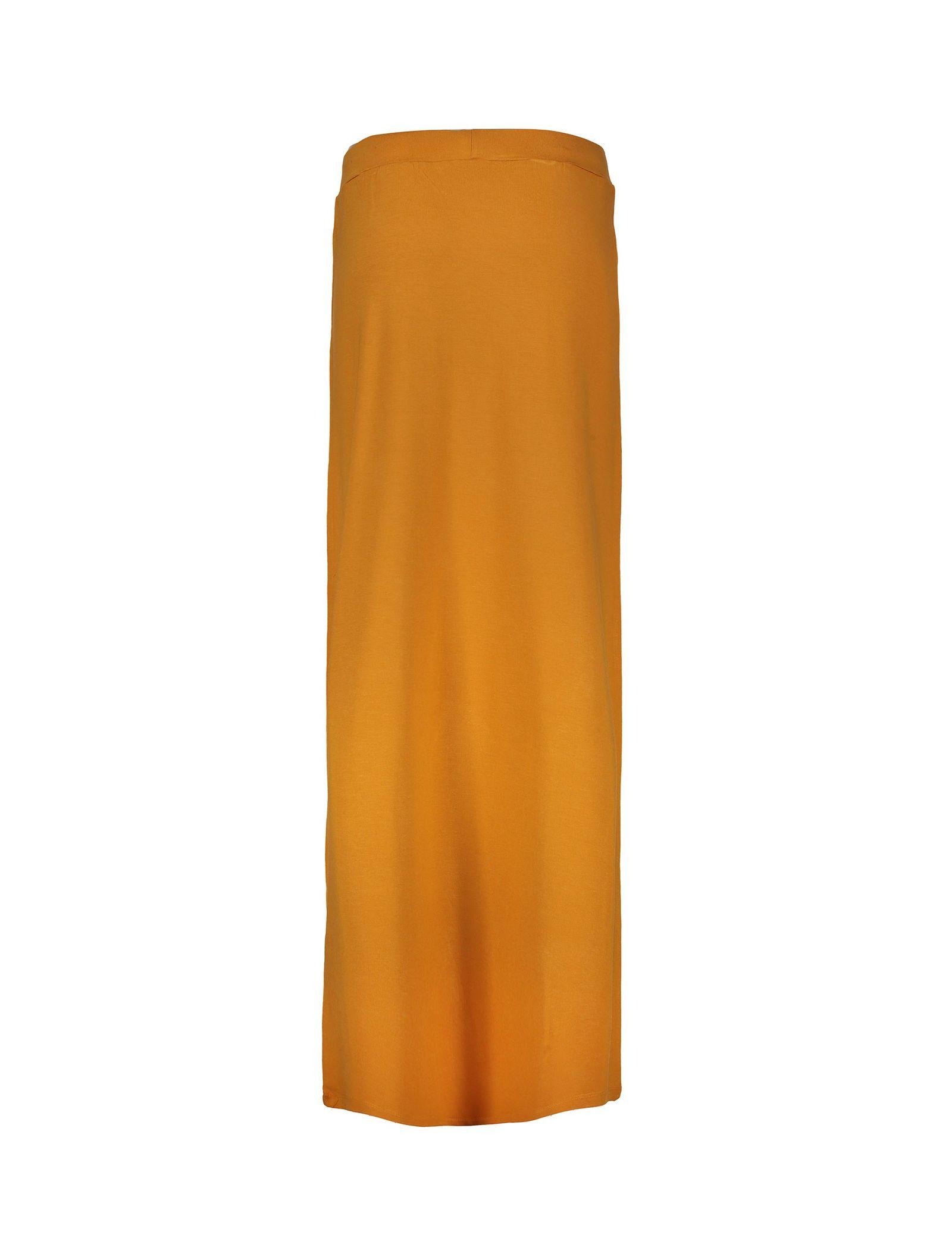 دامن ویسکوز بلند زنانه - جنیفر - خردلي - 2