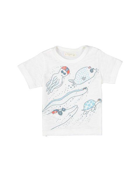تی شرت نخی نوزادی - سفيد - 1