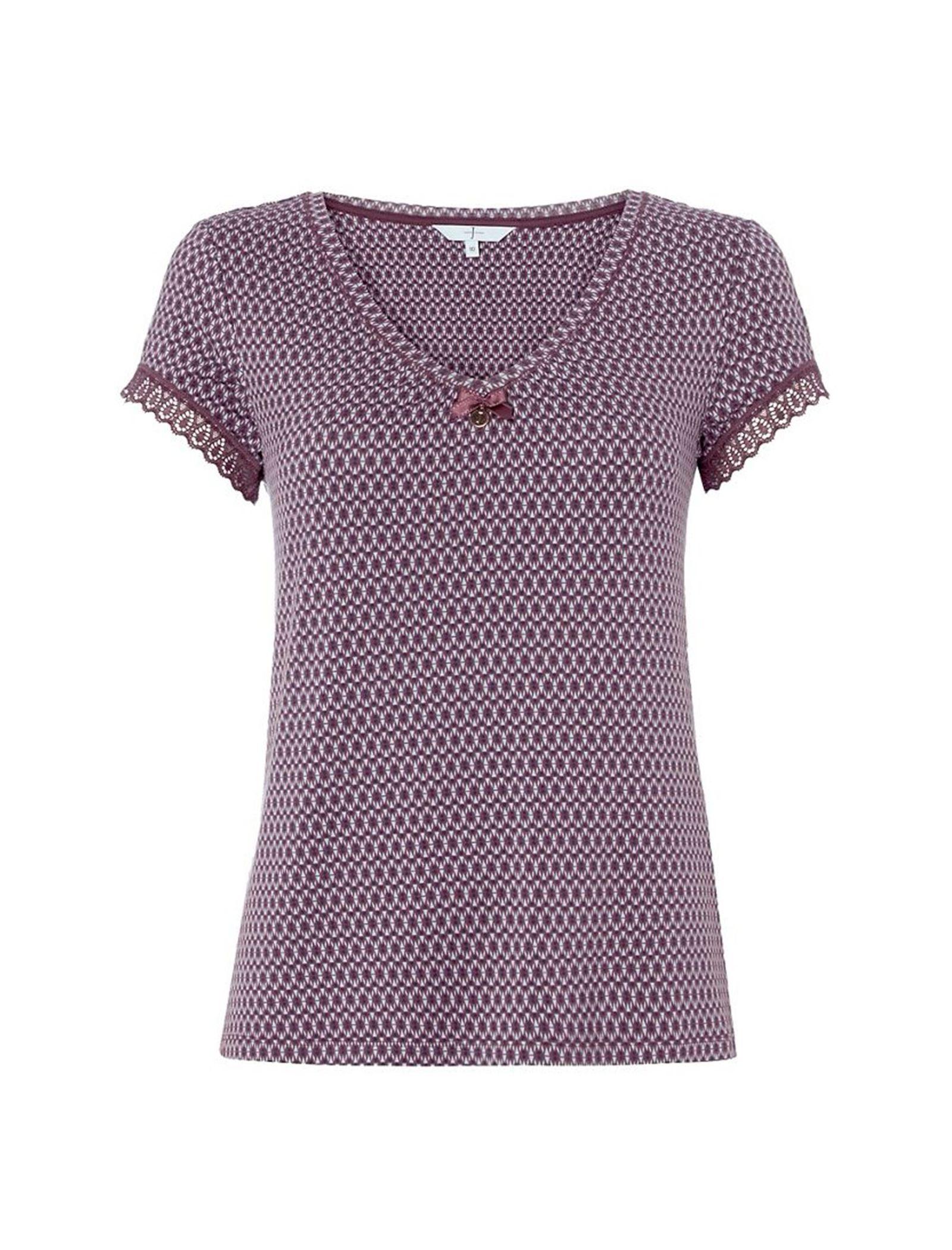 تی شرت راحتی ویسکوز زنانه City Chic - جی بای جسپرکنران - بنفش - 1