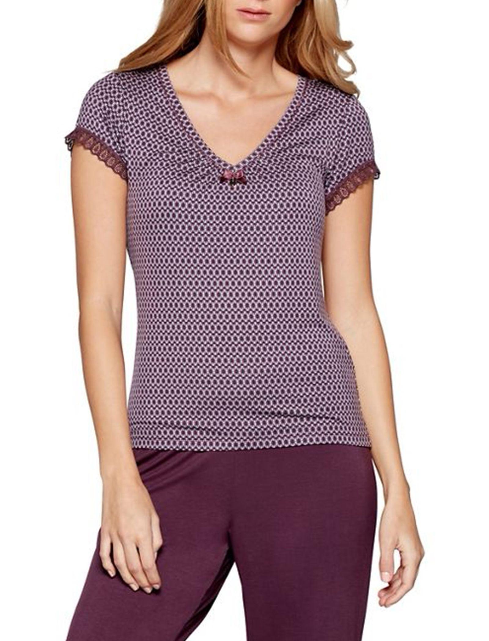 تی شرت راحتی ویسکوز زنانه City Chic - جی بای جسپرکنران - بنفش - 2