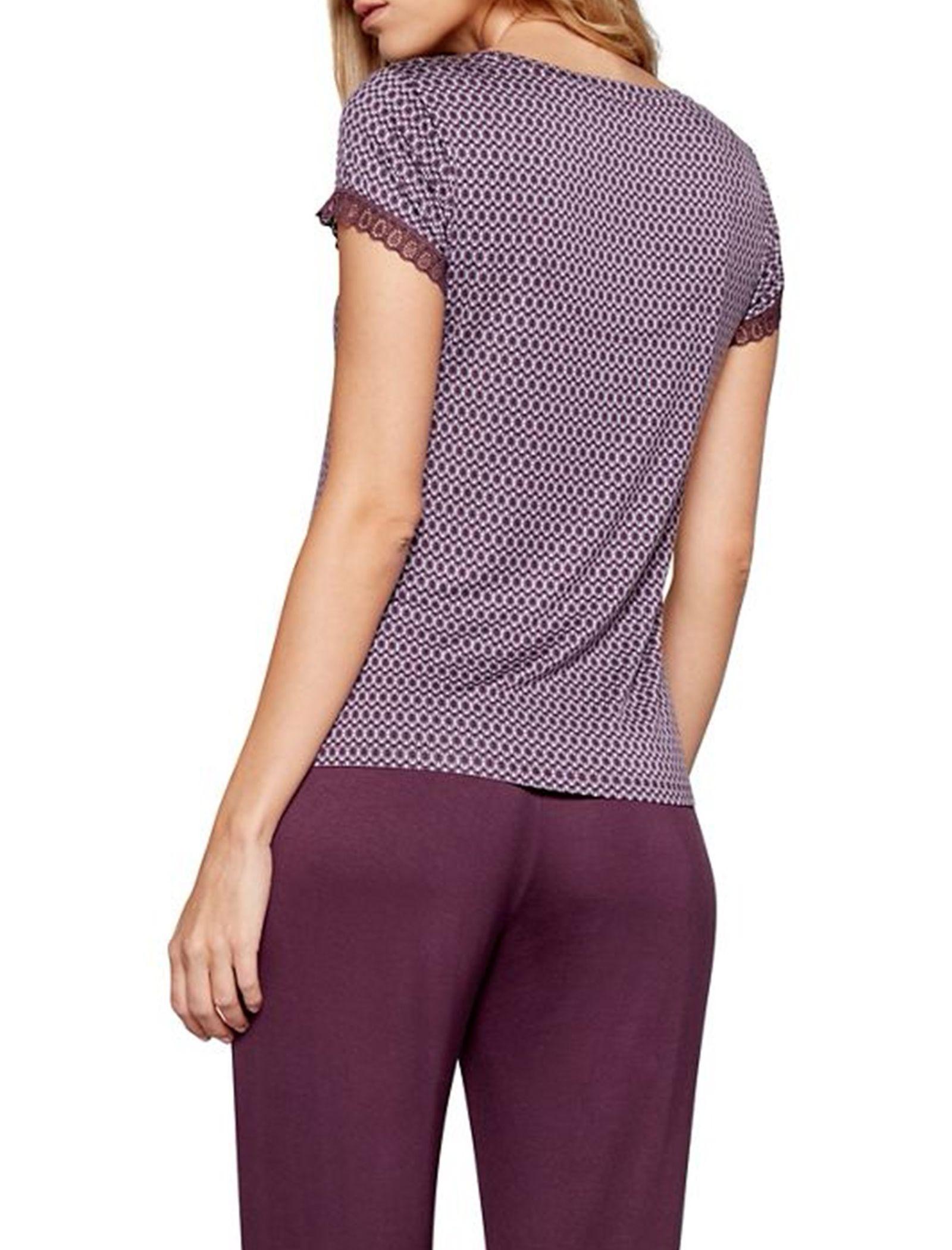 تی شرت راحتی ویسکوز زنانه City Chic - جی بای جسپرکنران - بنفش - 3