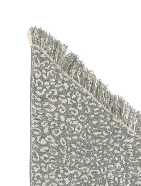 روسری طرح دار زنانه - سفيد و طوسي - 5