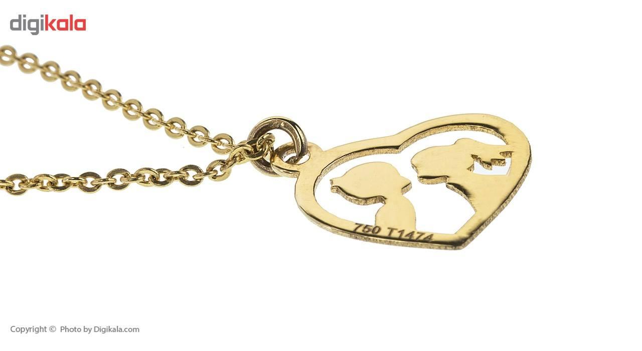 آویز ساعت طلا 18 عیار ماهک مدل MW0083 - مایا ماهک -  - 3