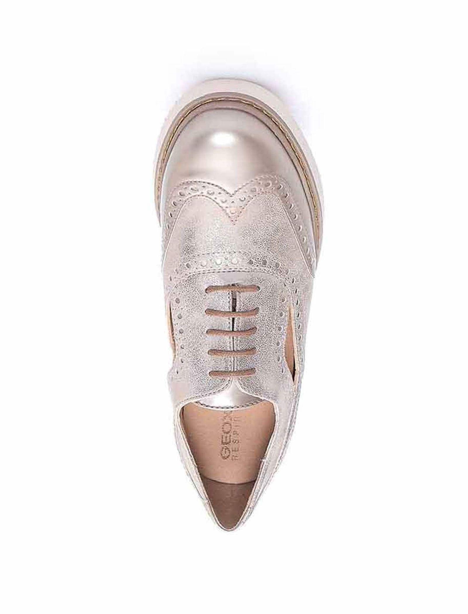 کفش تخت زنانه D Thymar - جی اوکس - بژ - 2
