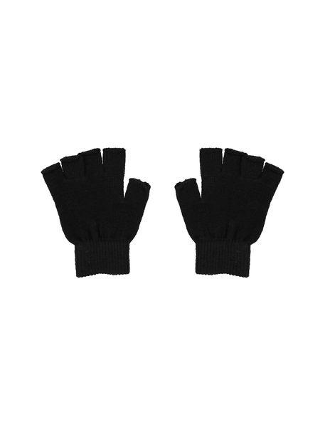 دستکش بدون انگشت زنانه بسته 2 عددی - سفيد و مشکي - 5