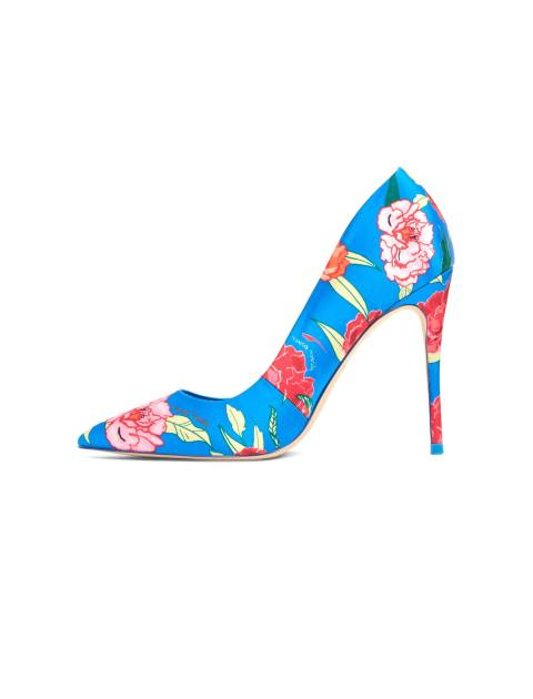 کفش پاشنه بلند زنانه - آبي - 3