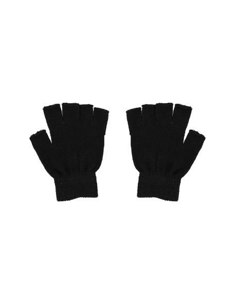 دستکش بدون انگشت زنانه بسته 2 عددی - سفيد و مشکي - 6