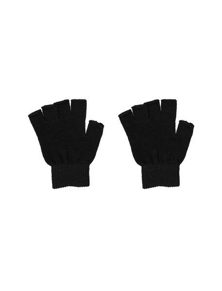 دستکش بدون انگشت زنانه بسته 2 عددی - سفيد و مشکي - 7