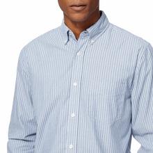 پیراهن نخی مردانه - آبي - 2