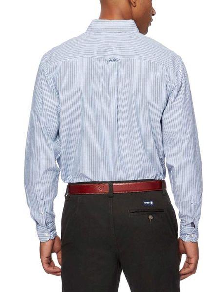 پیراهن نخی مردانه - آبي - 4