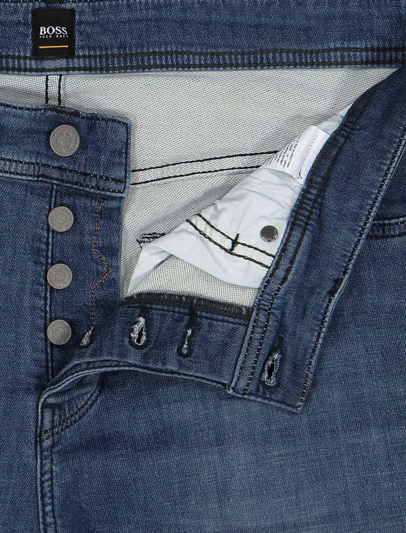 شلوار جین راسته مردانه Orange90-P SUAVE - باس اورنج - آبي تيره - 7