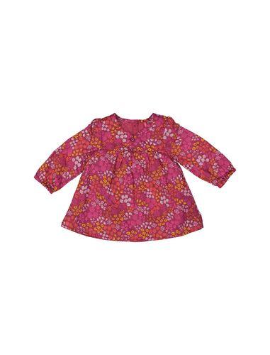 پیراهن نخی آستین بلند نوزادی دخترانه - ارکسترا