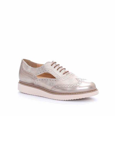 کفش تخت زنانه D Thymar - جی اوکس - بژ - 4