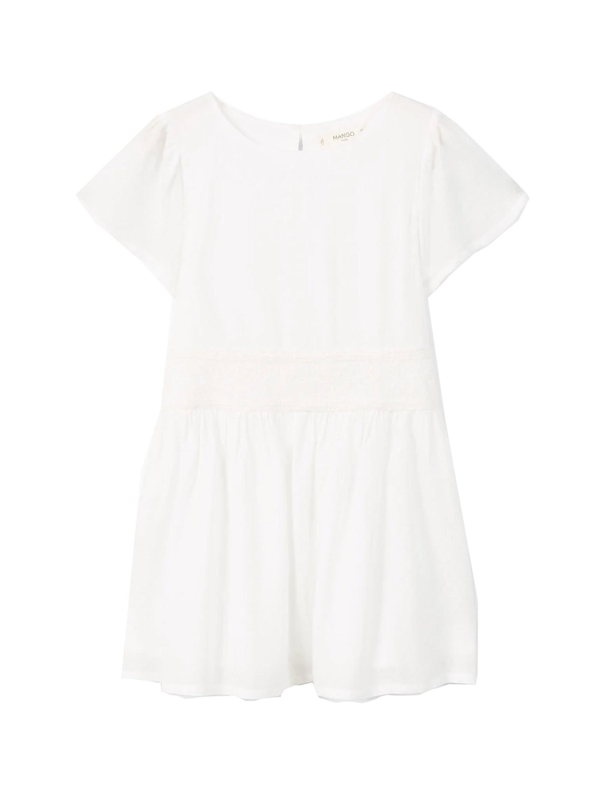 پیراهن ویسکوز روزمره دخترانه - مانگو
