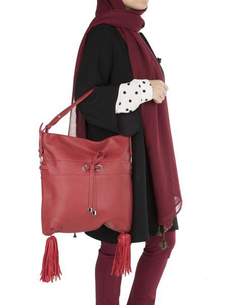 کیف دستی روزمره زنانه - قرمز - 2