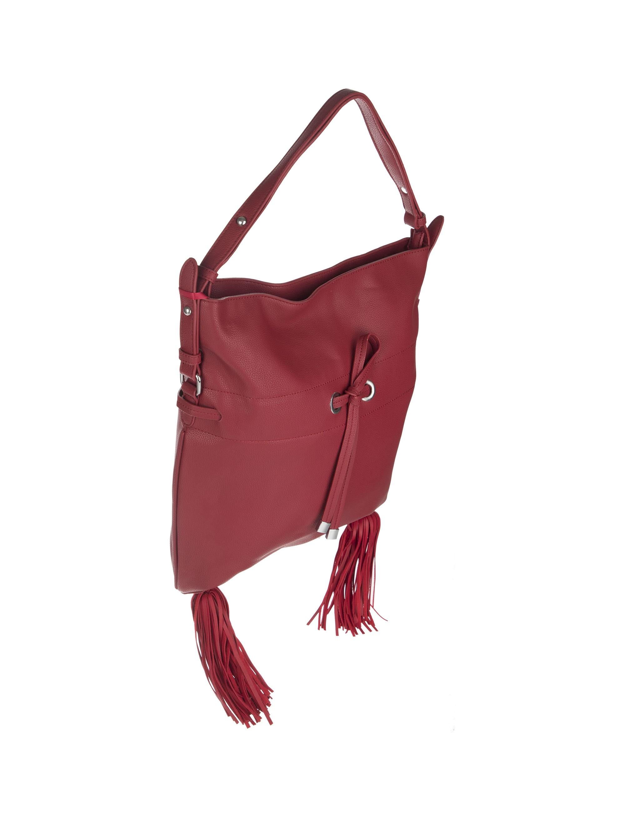 کیف دستی روزمره زنانه - قرمز - 3