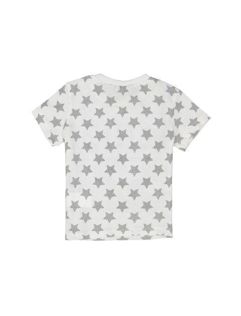 تی شرت نخی طرح دار نوزادی پسرانه - سفيد - 2