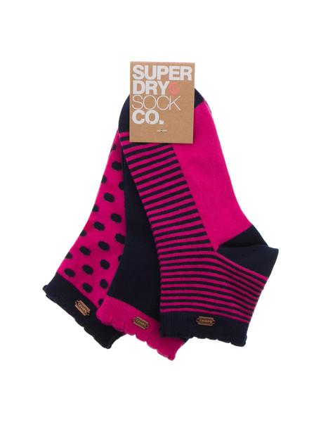 جوراب نخی بدون ساق زنانه بسته 3 عددی - سوپردرای