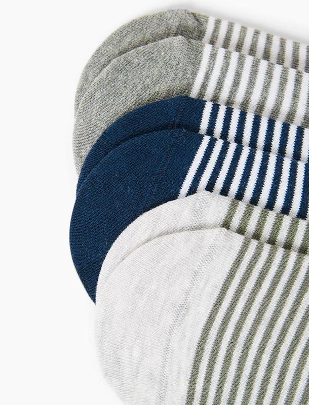 جوراب نخی مردانه بسته 3 عددی
