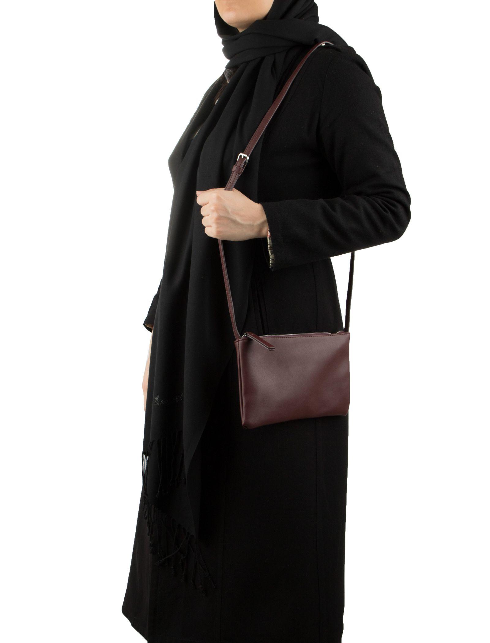 کیف دوشی روزمره زنانه - تیفوسی - قهوه اي زرشکي - 6