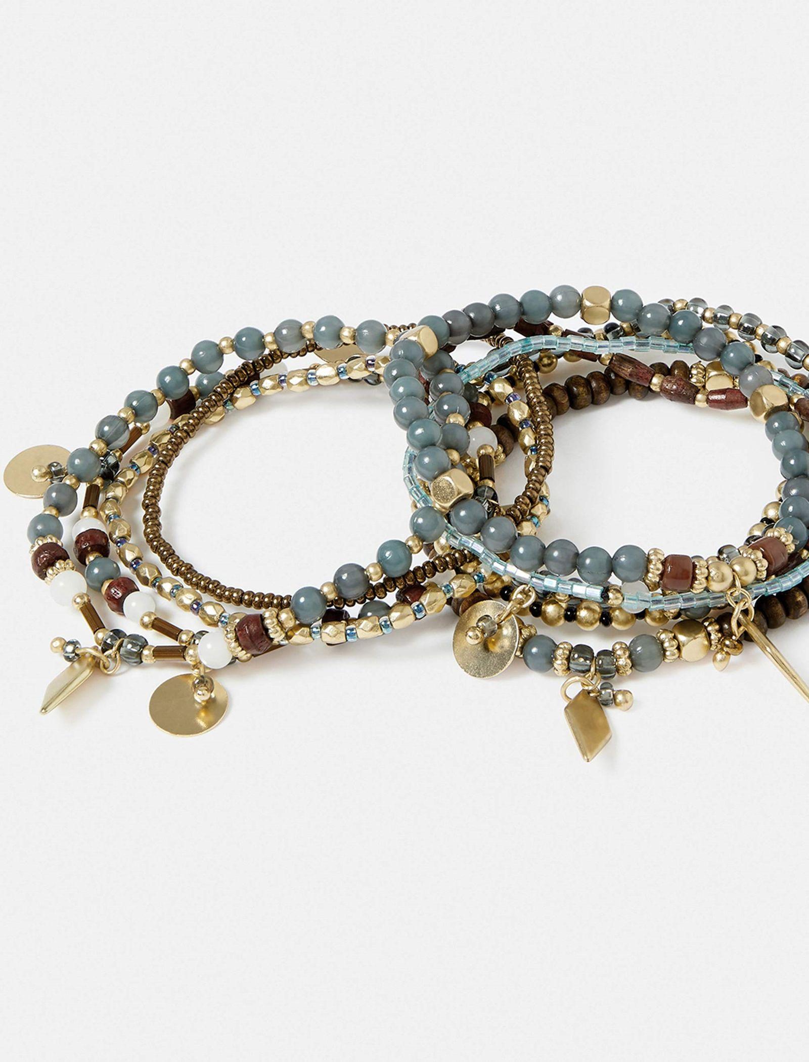 دستبند النگویی زنانه بسته 10 عددی - اکسسوریز -  - 2