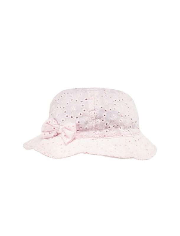 کلاه نخی ساده نوزادی دخترانه بسته 2 عددی