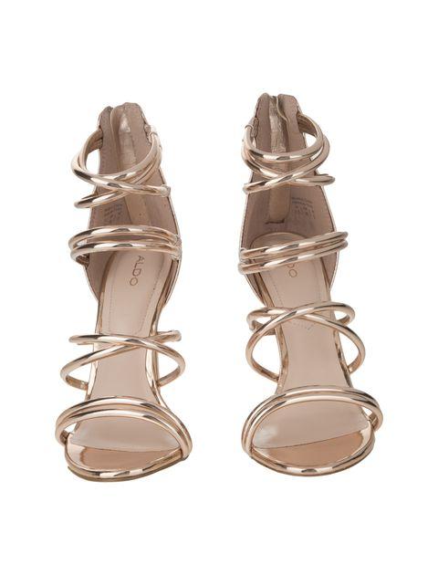 کفش پاشنه بلند زنانه - رزگلد - 4