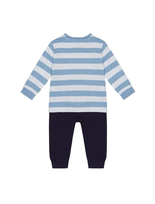 ست تی شرت و شلوار نخی نوزادی پسرانه - بلوزو