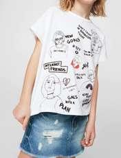 دامن جین کوتاه دخترانه - آبي - 5