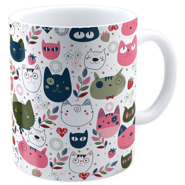 ماگ شین دیزاین طرح گربه کد 4075