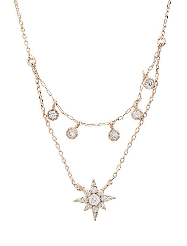 گردنبند برنجی آویز زنانه Starburst Layered - اکسسوریز