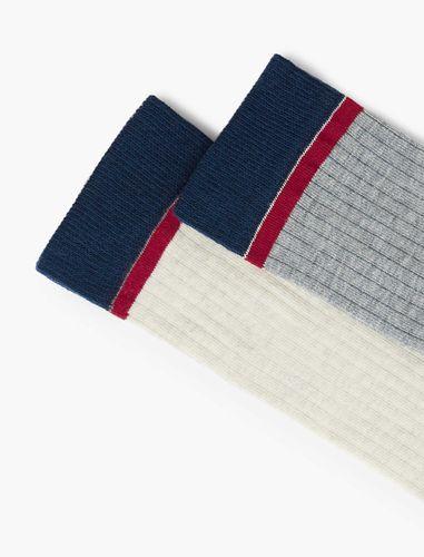 جوراب نخی ساق متوسط زنانه بسته 2 عددی