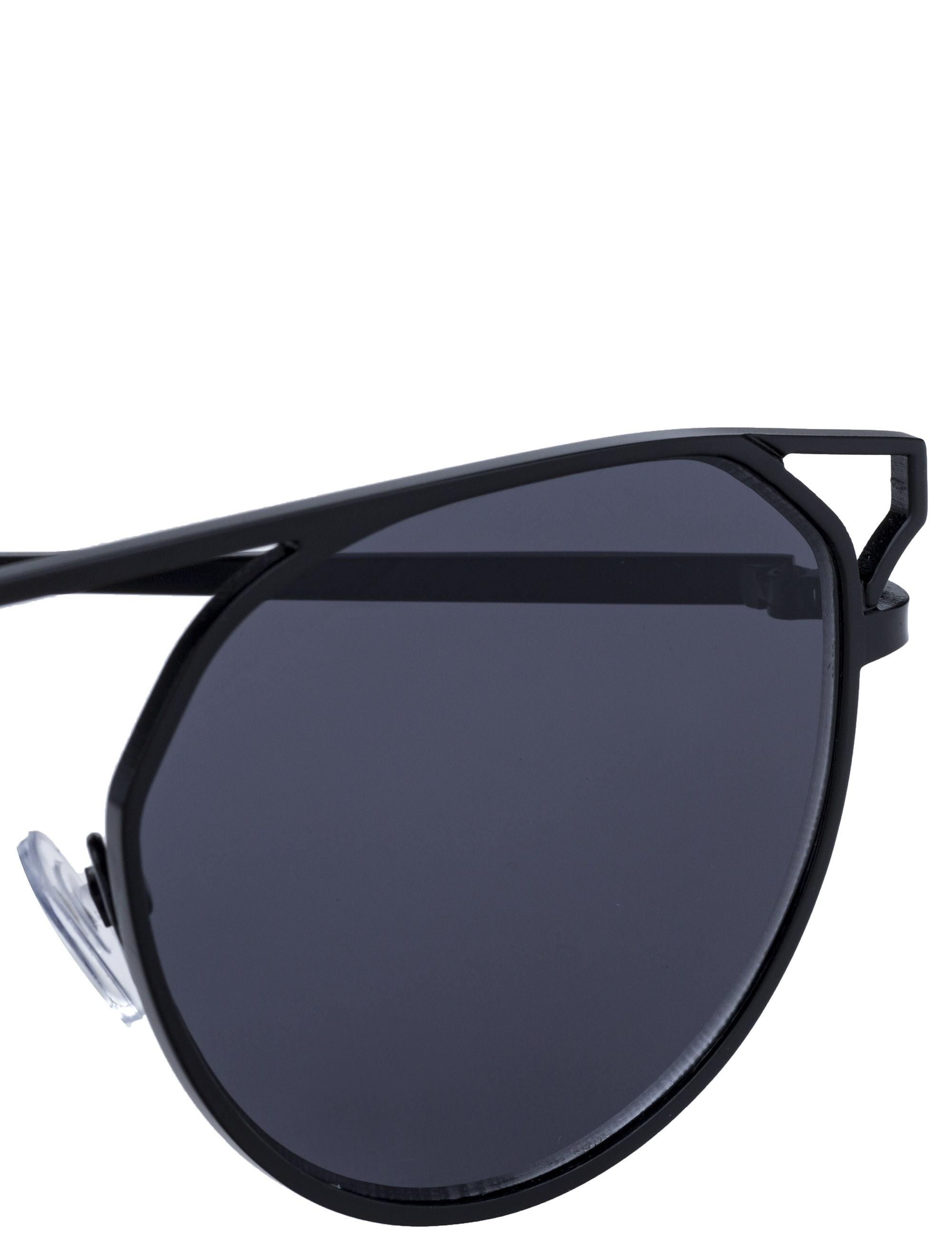 عینک آفتابی خلبانی مردانه - مشکي         - 5
