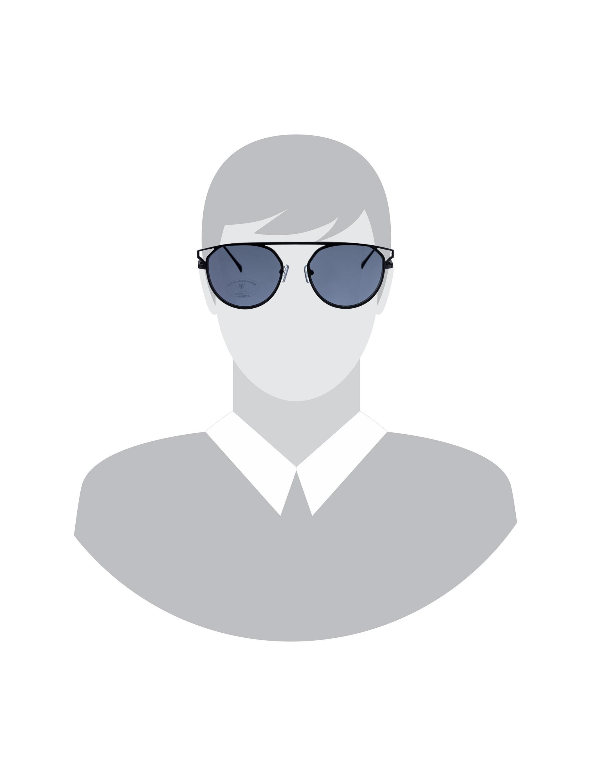 عینک آفتابی خلبانی مردانه - مشکي         - 6
