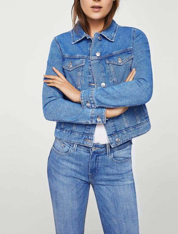 کت جین کوتاه زنانه - مانگو