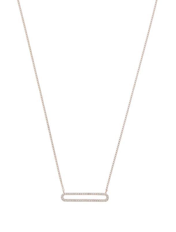 گردنبند برنجی آویز زنانه Diamante Oval - اکسسوریز