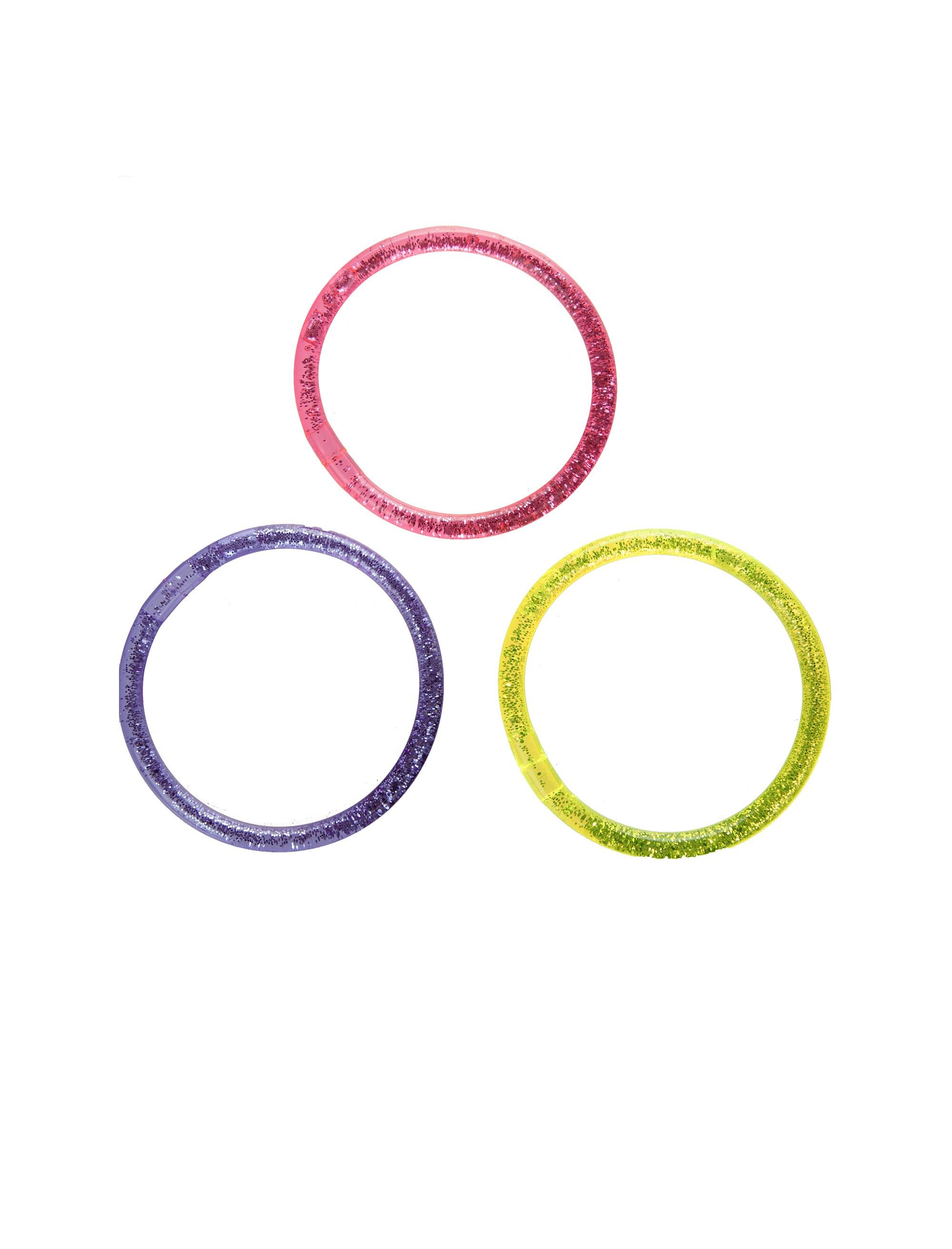 دستبند النگویی دخترانه بسته 3 عددی
