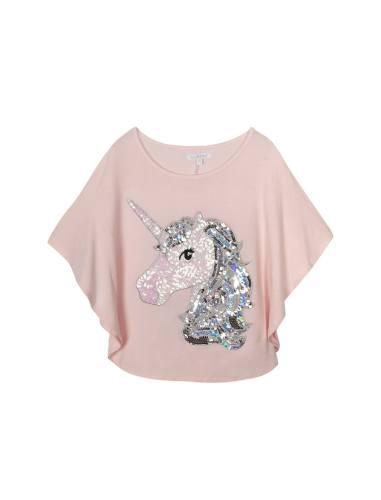تی شرت ویسکوز یقه گرد دخترانه