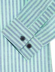 پیراهن نخی آستین بلند پسرانه - پیانو - سبز  - 3