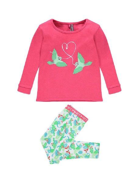 تی شرت و شلوار راحتی نخی نوزادی دخترانه - چند رنگ - 1
