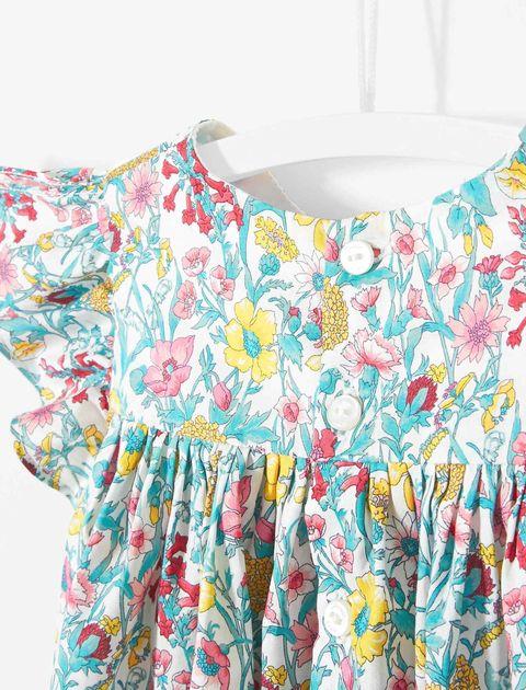 پیراهن نخی نوزادی دخترانه Layette - جاکادی - چند رنگ - 3
