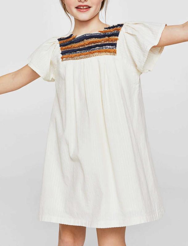 پیراهن نخی کوتاه دخترانه - مانگو